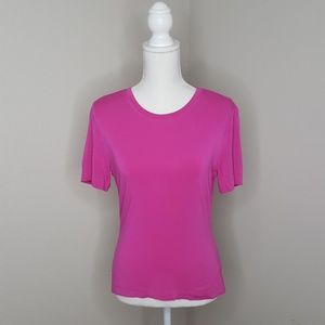 St John Pink Short Sleeve Top